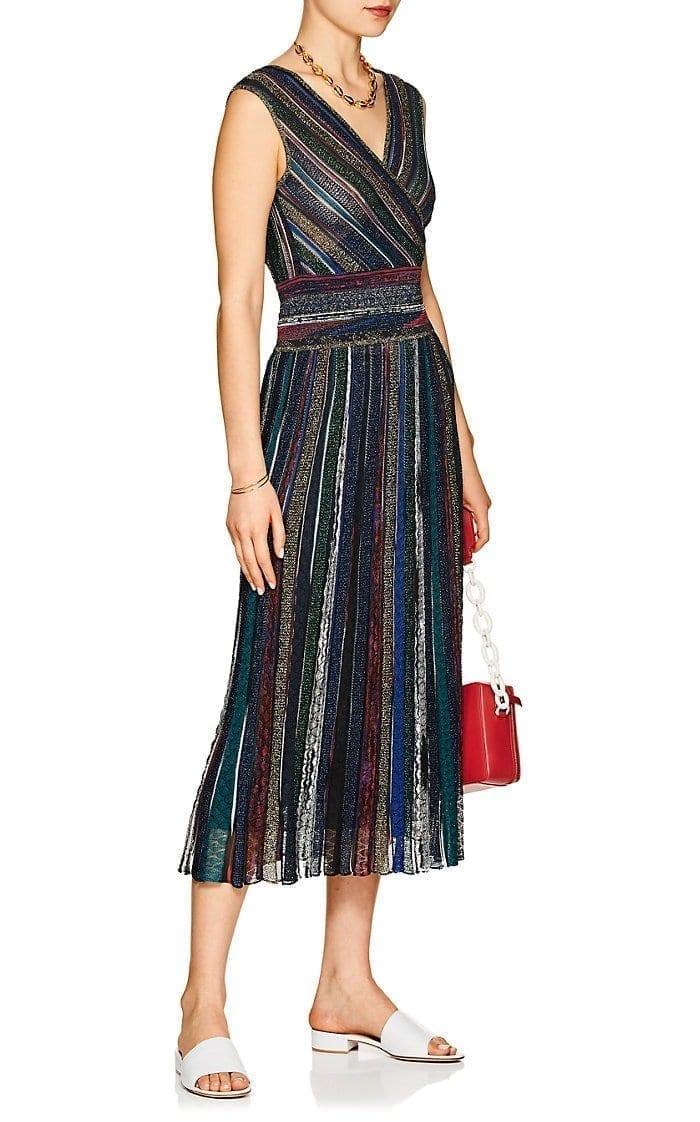 5ceb53612d5 MISSONI Metallic Striped Maxi Navy   Multi Dress - We Select Dresses