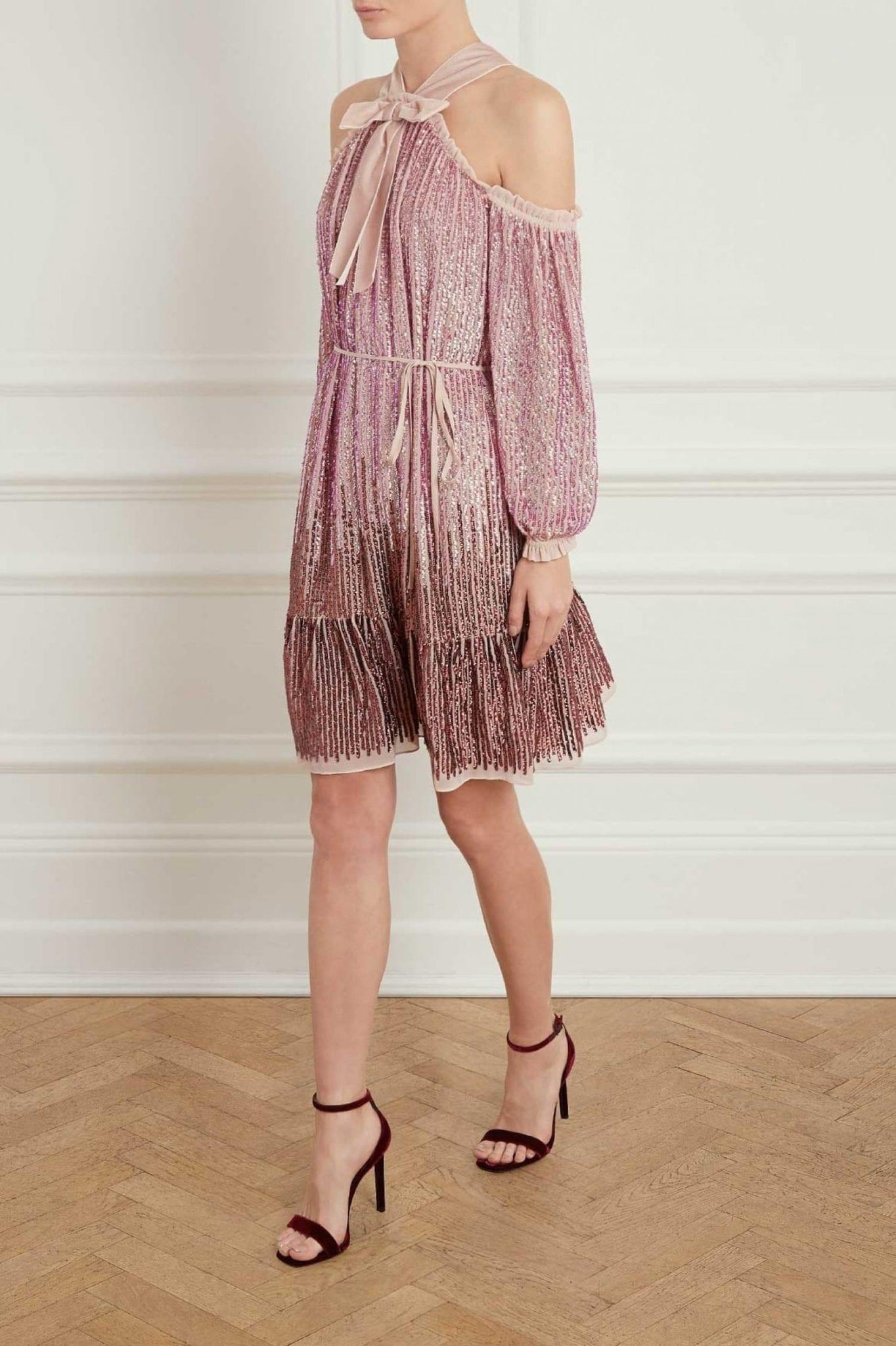 NEEDLE AND THREAD Kaleidoscope Pink Dress