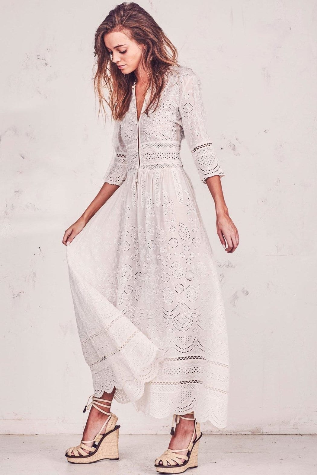 NEPTUNES Caroline White Dress