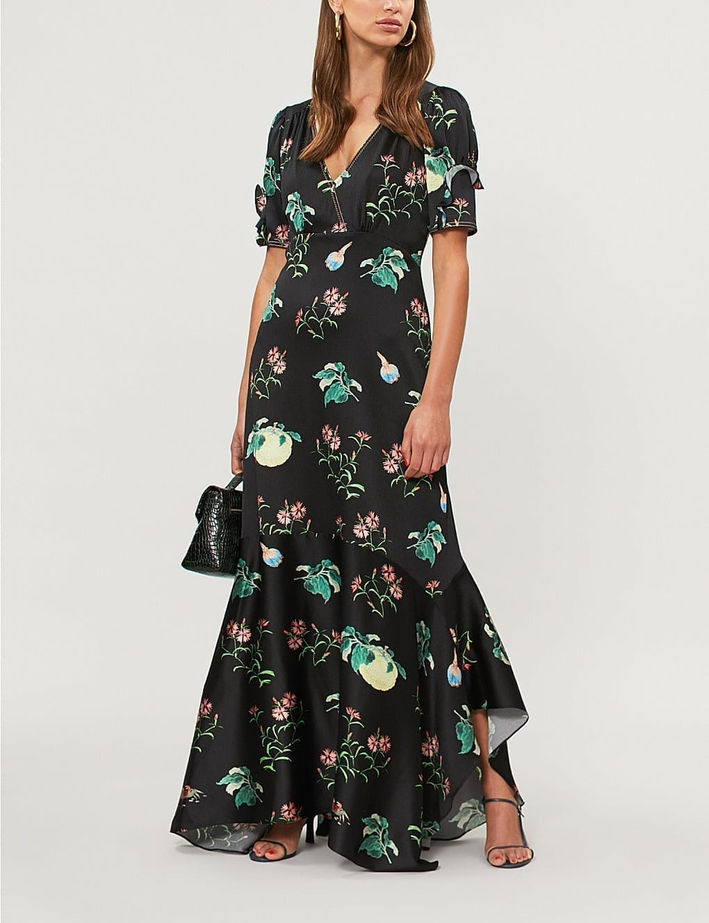 Peter pilotto fruit and flowers print silk black gown we select peter pilotto fruit and flowers print silk black gown mightylinksfo