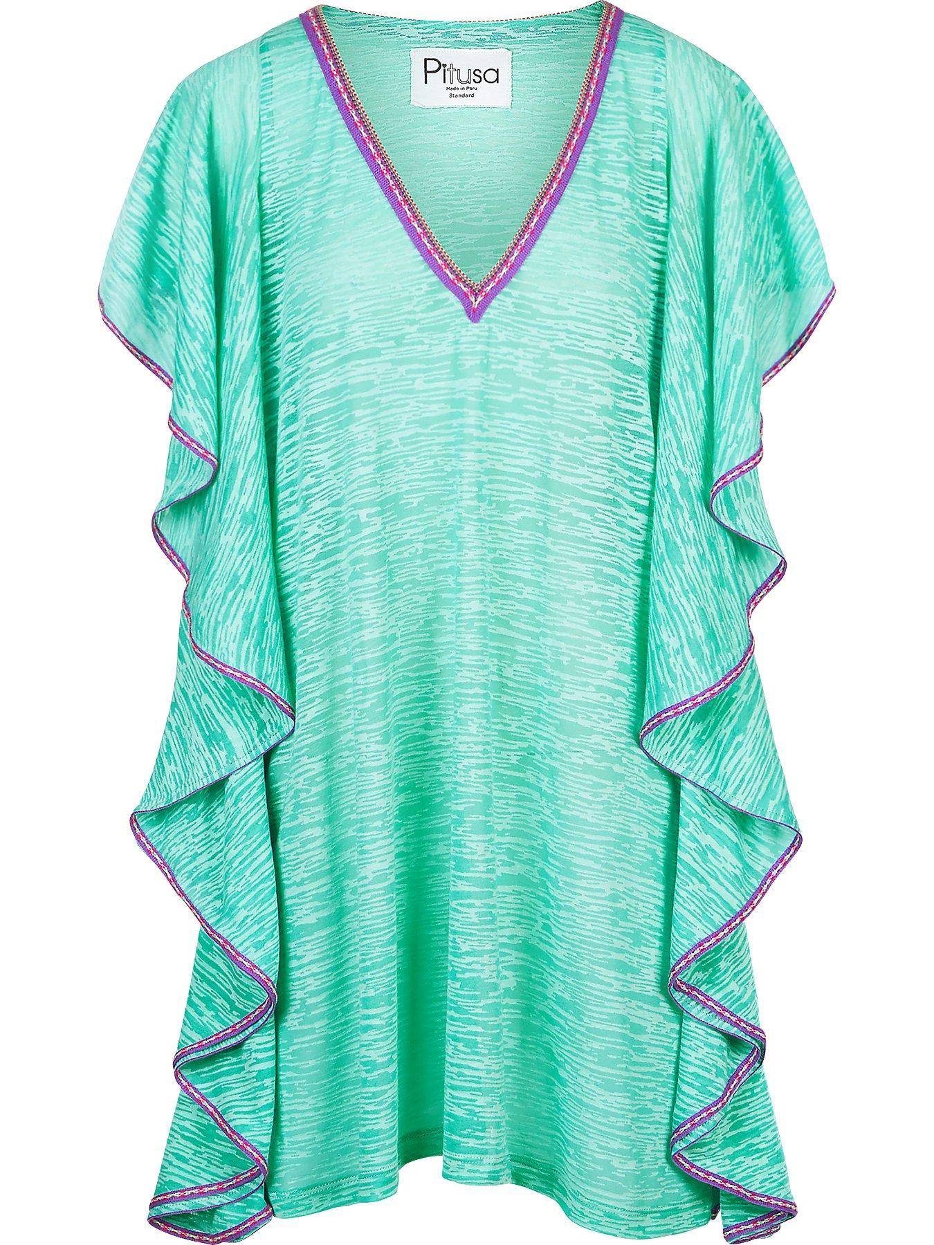 568b5064a85 PITUSA Flare V Neck Mini Mint Dress - We Select Dresses