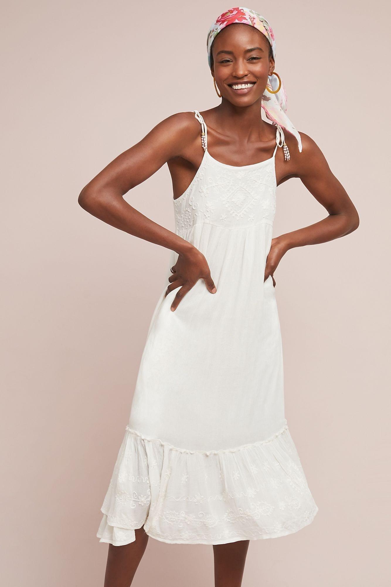 RAGA Nessa Midi Ivory Dress