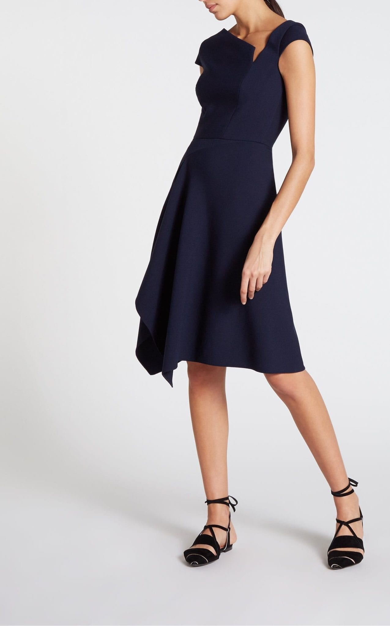 ROLAND MOURET Augustus Navy Dress