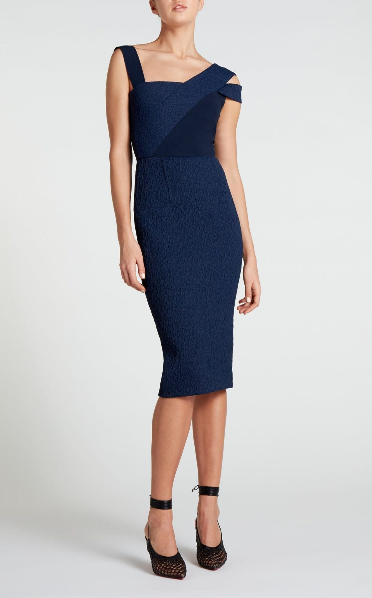 ROLAND MOURET Elsom Navy Dress