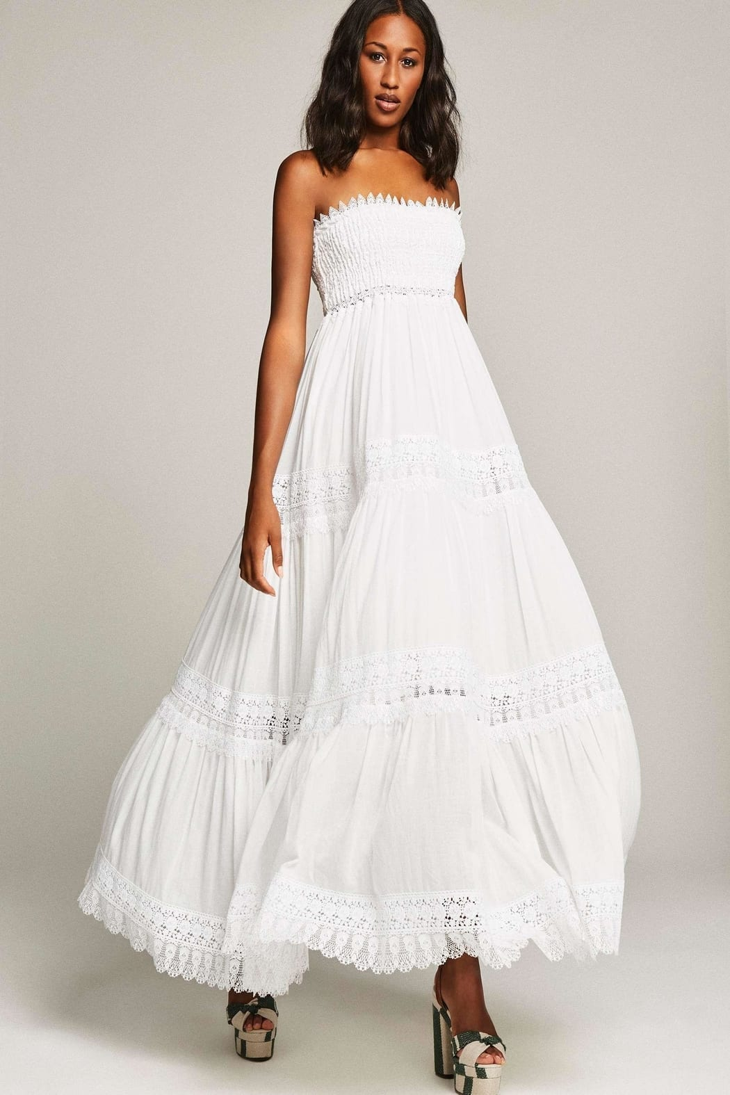 ROUGE PRINCETON Zoe Long White Dress