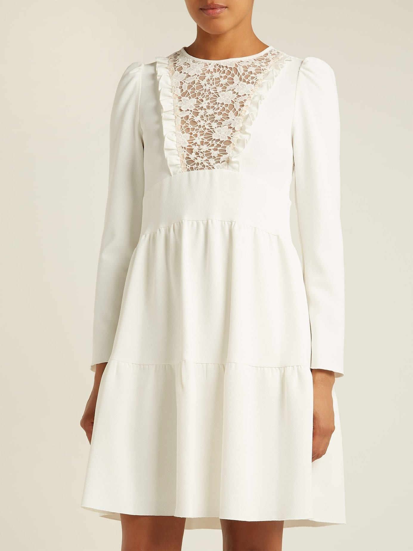 See By ChloÉ Lace Crêpe White Dress