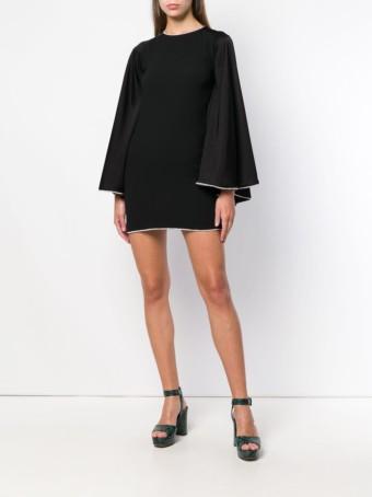 SONIA RYKIEL Crystal Trimmed Black Dress