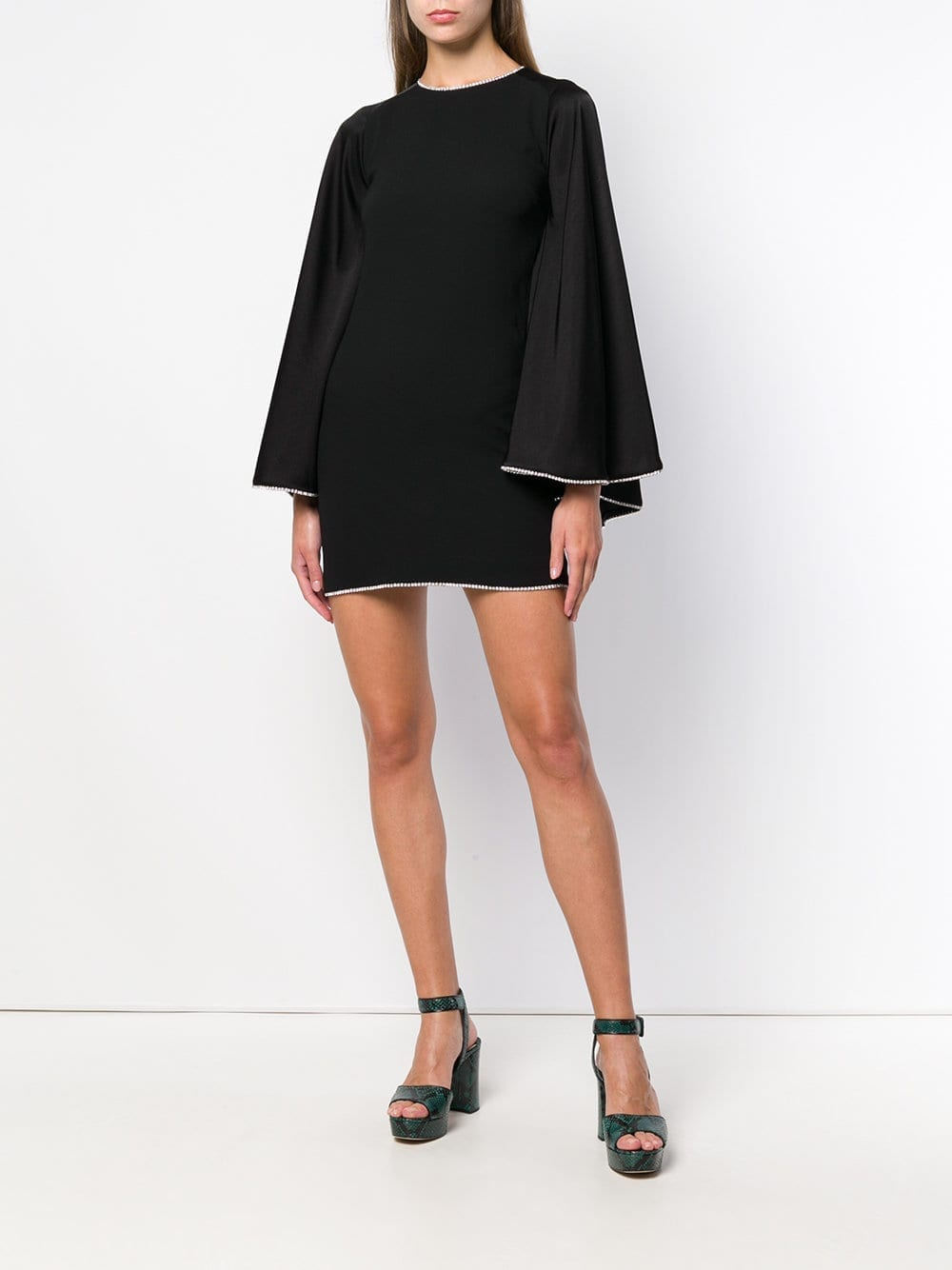 SONIA RYKIEL Crystal Trimmed Black Dress