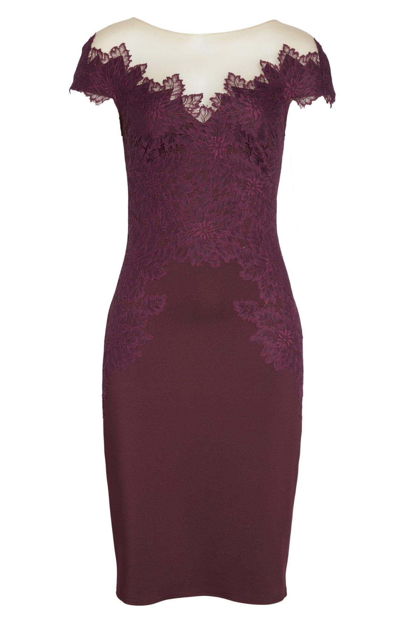 TADASHI SHOJI Lace Embellished Body-Con Dewberry Dress - We Select ...