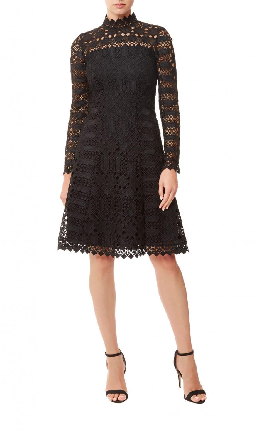 TEMPERLEY LONDON Amelia Lace Black Dress