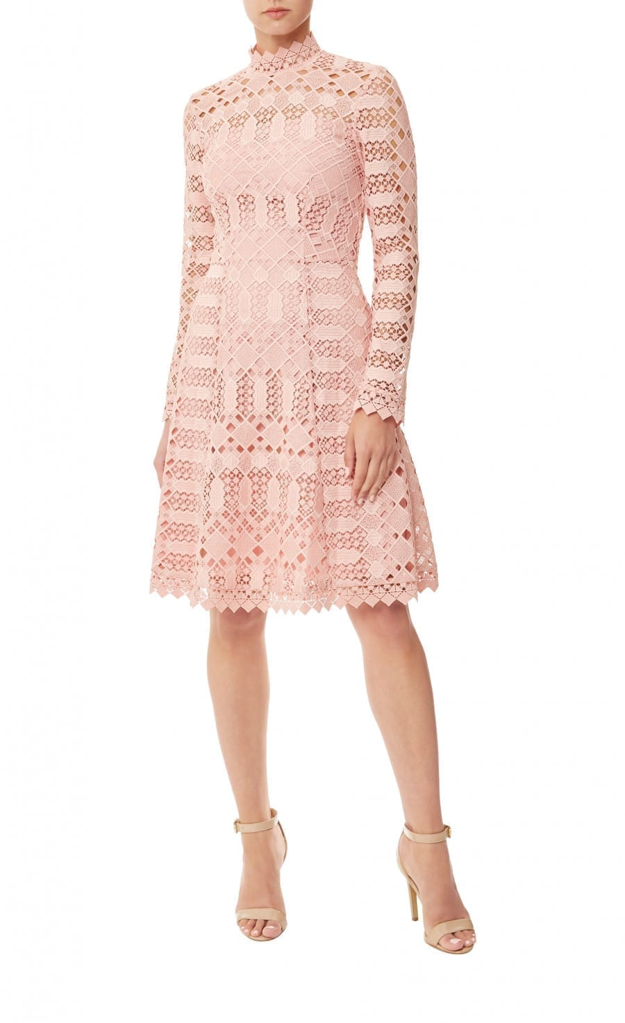 TEMPERLEY LONDON Amelia Lace Pink Dress