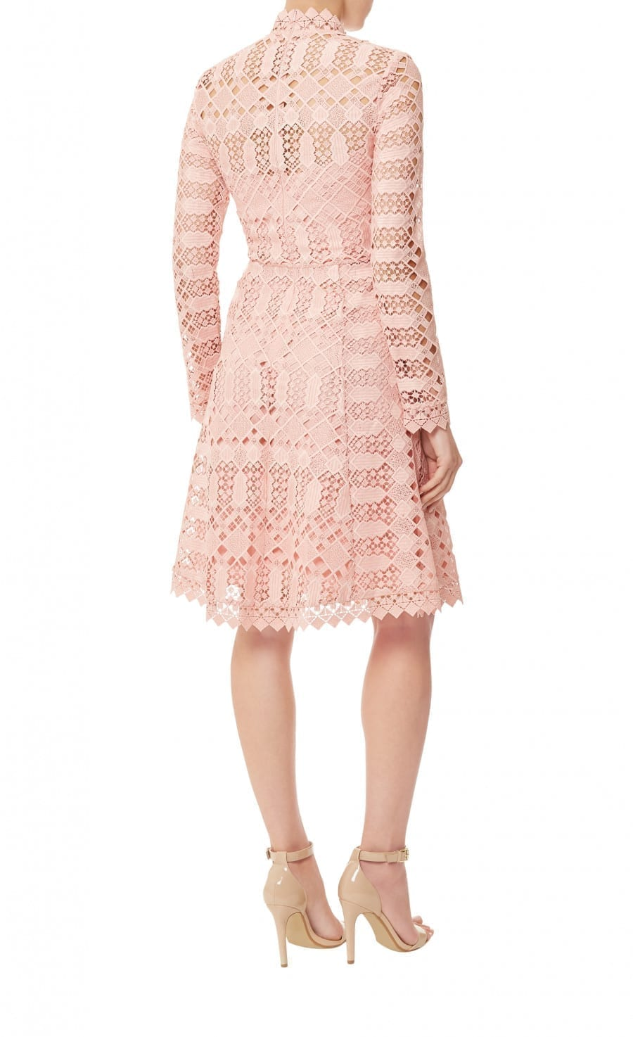 49ce8592 TEMPERLEY LONDON Amelia Lace Pink Dress - We Select Dresses