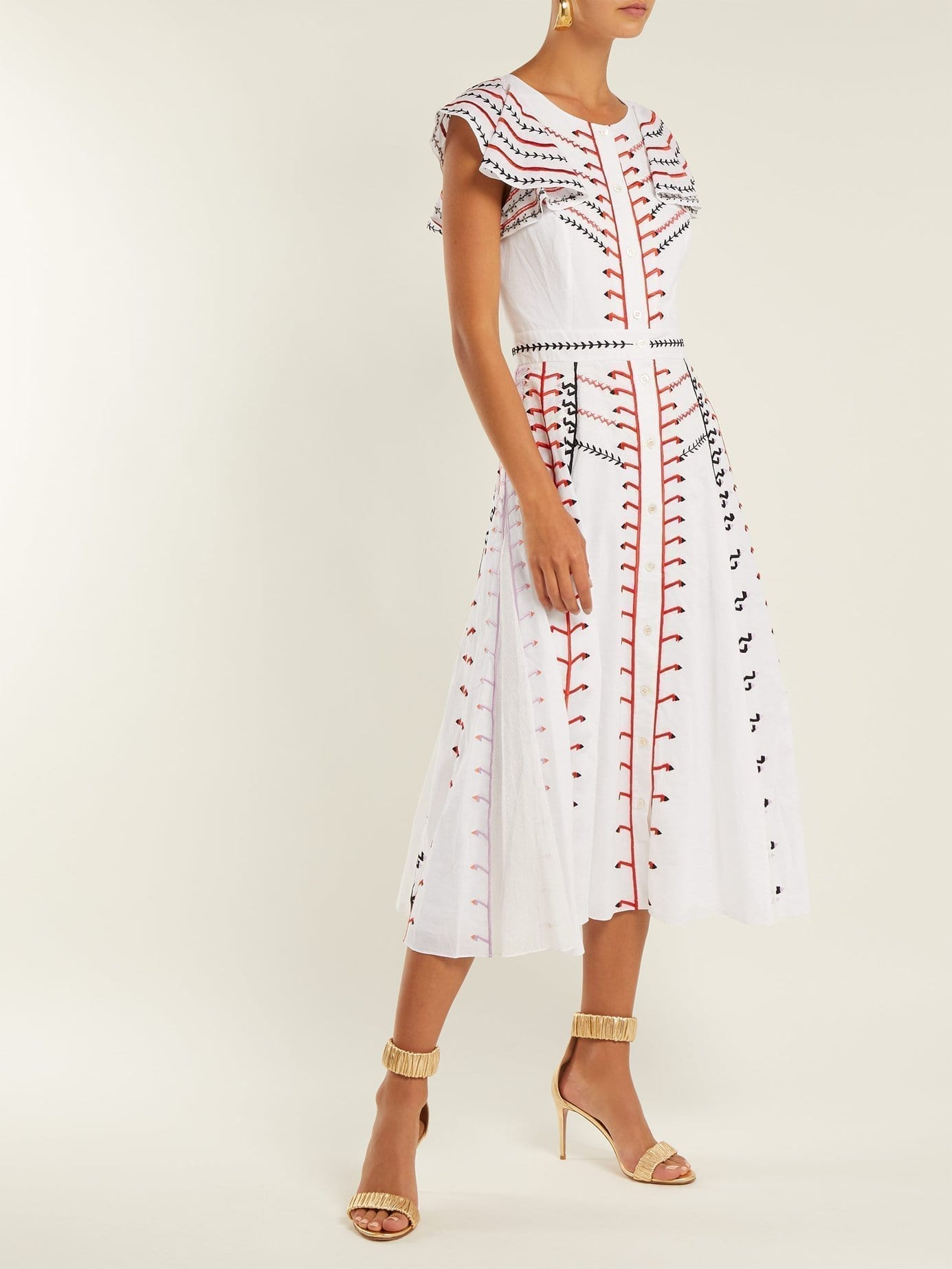 TEMPERLEY LONDON Expedition Embroidered Cotton White Dress