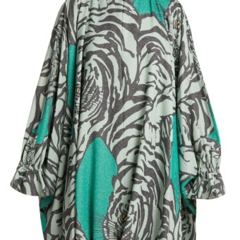 0d48c97210 VALENTINO Tiger Print Balloon Sleeve Midi Green Dress - We Select Dresses