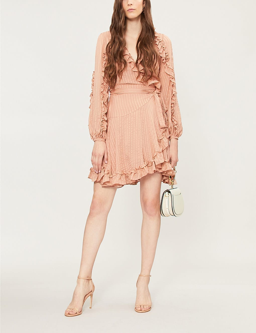 ZIMMERMANN Wrap silk-chiffon Nude dress