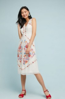 AKEMI + KIN Billie Embroidered White Dress