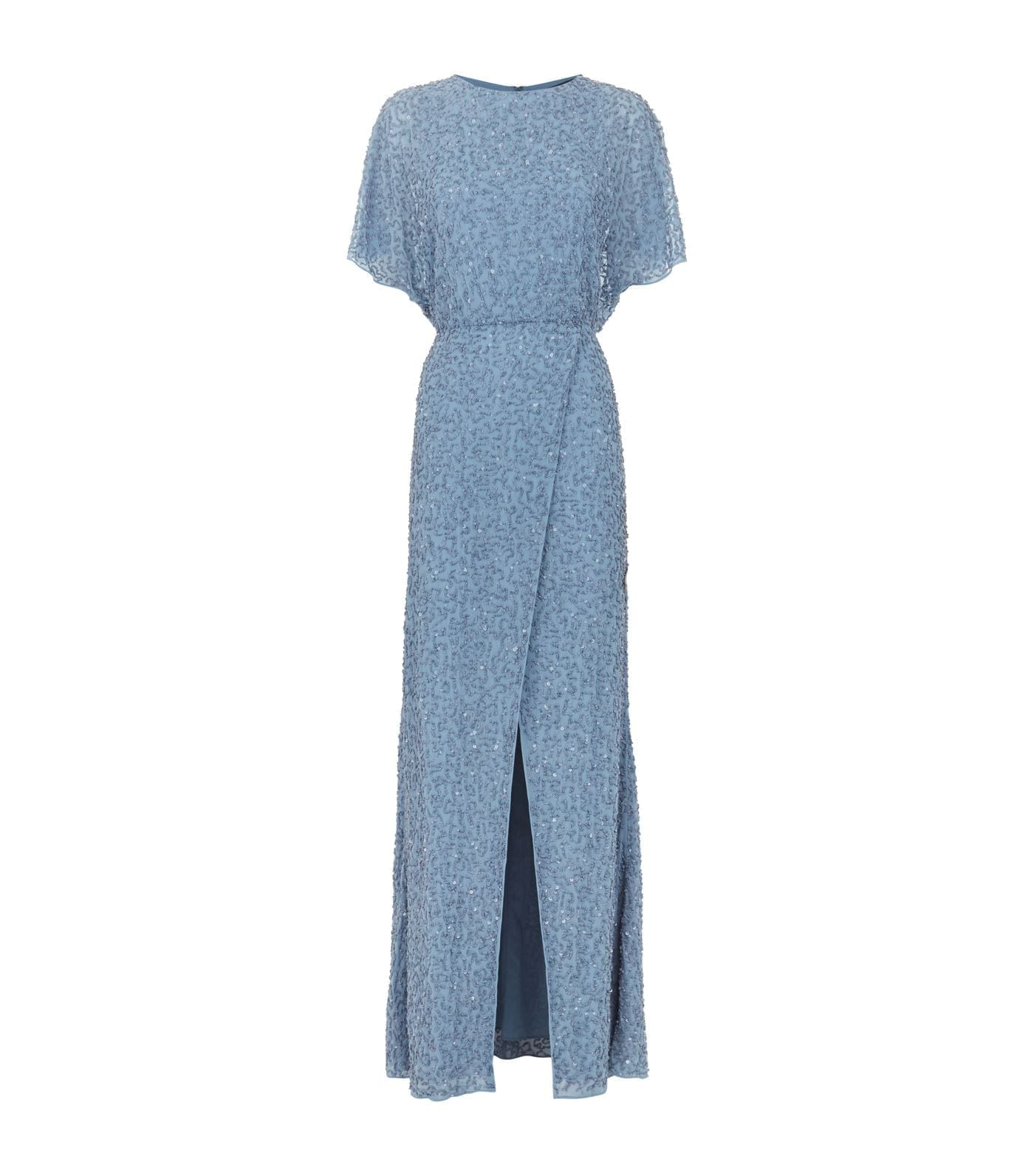 ALICE + OLIVIA Arora Sequin Embellished Blue Gown - We Select Dresses