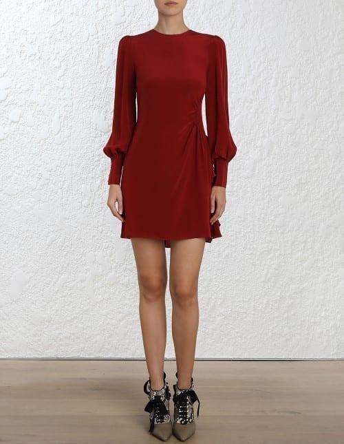 Asymmetric Mini Ruby Dress