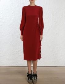 ZIMMERMANN Asymmetric Ruby Dress
