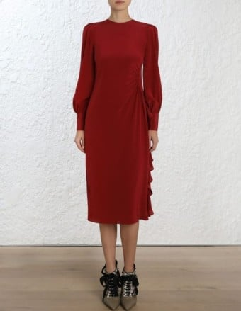 ZIMMERMANN Asymmetric Ruby Dress