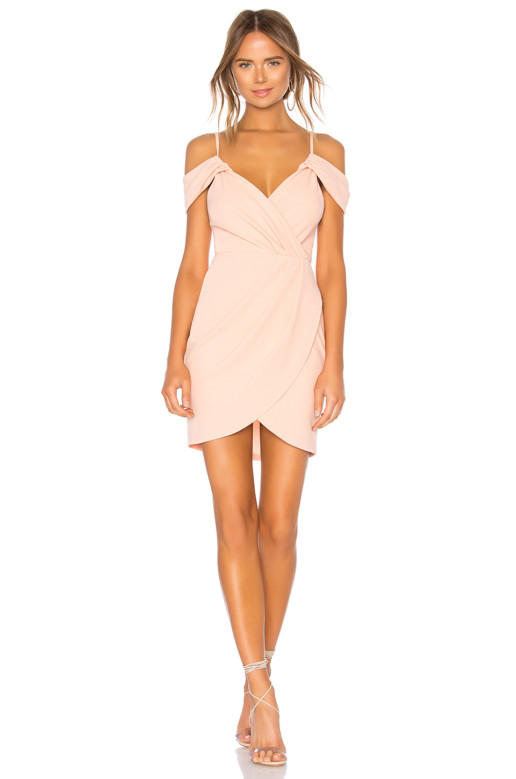 BY THE WAY Brenda Draped Pink Dress