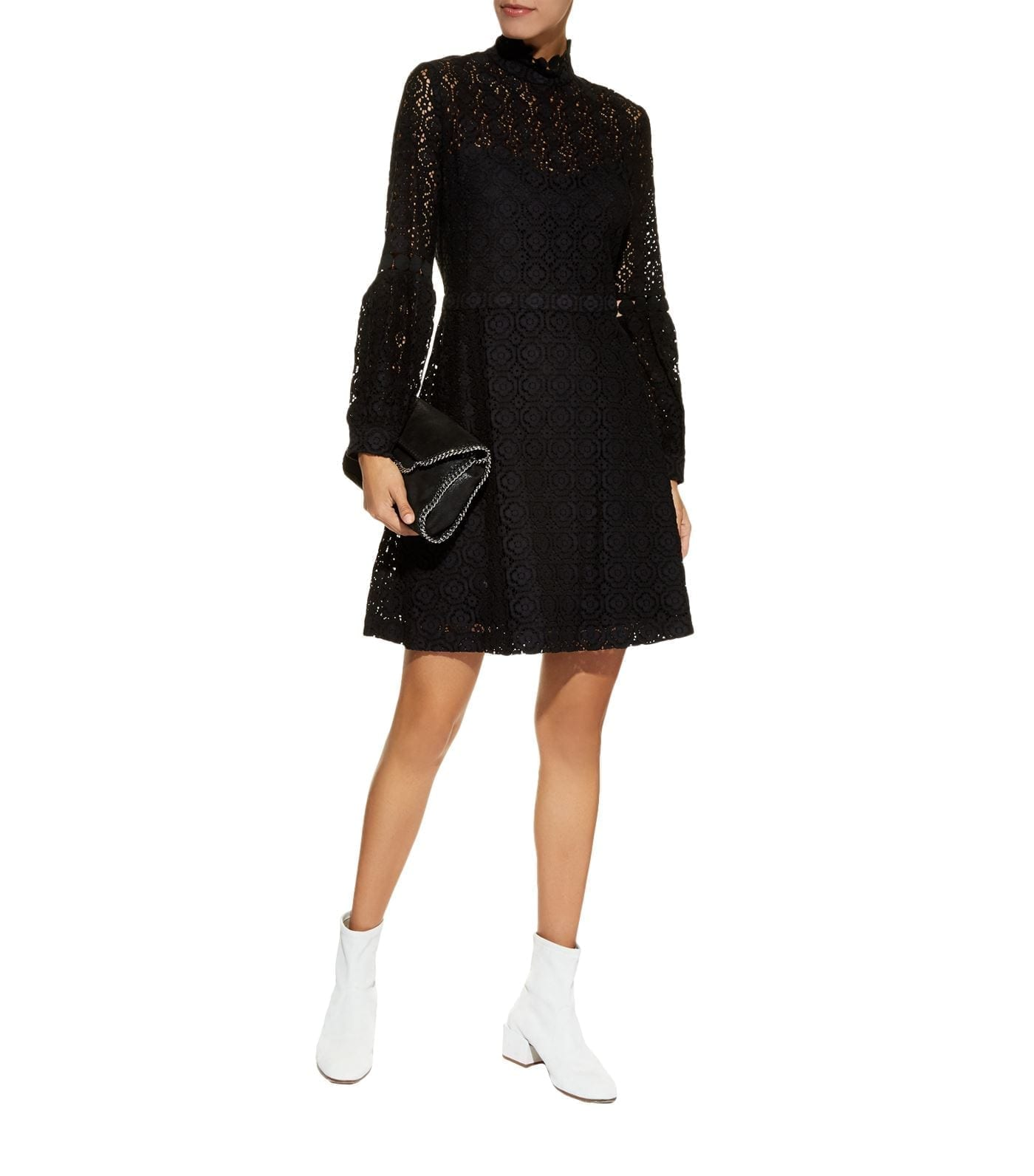 CLAUDIE PIERLOT Lace Black Dress
