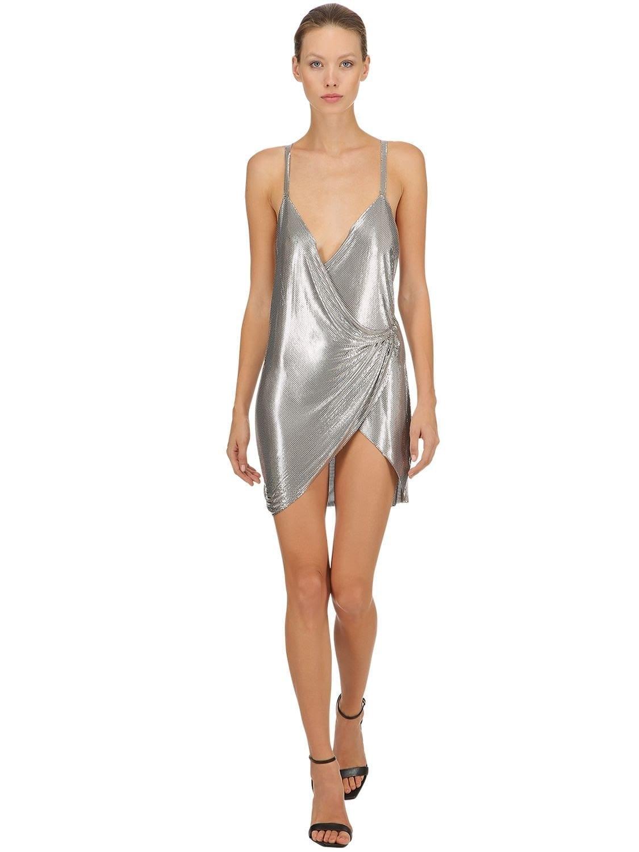 THE ATTICO Multi-Print Leavers Lace Crepe Dress - We