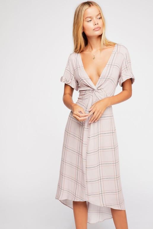 FREEPEOPLE Bon Bon Printed Rosewood Dress