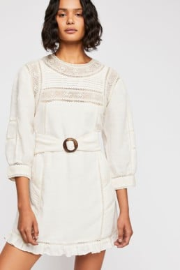 FREEPEOPLE Luisa Mini White Dress