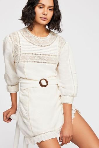 FREEPEOPLE Luisa Mini White Dress