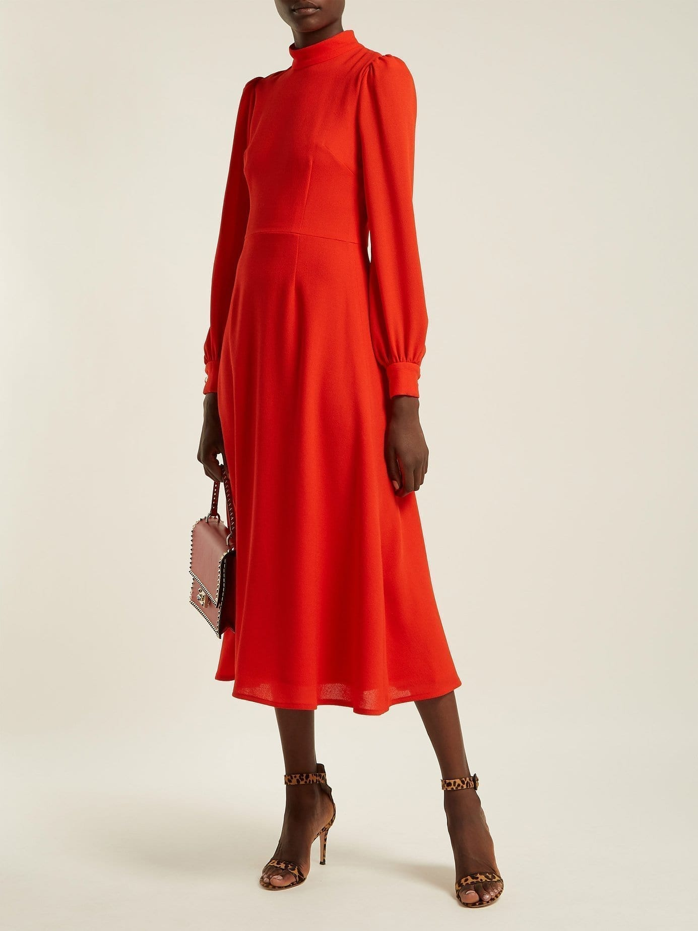Fashion style Red dress wool for woman