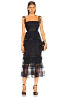 JONATHAN SIMKHAI Strapless Bustier Midnight / Black Dress