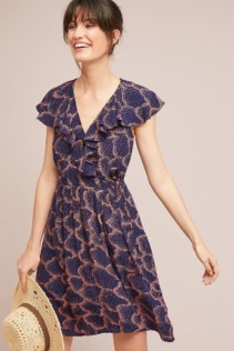 MAEVE Rosalia Wrap Navy Dress