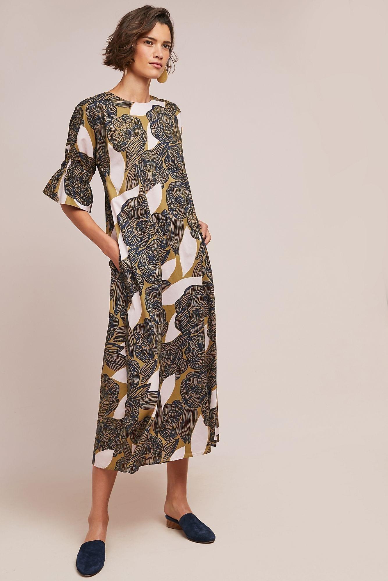 Arya Flutter Sleeve Black Wrap Midi Dress - New In from