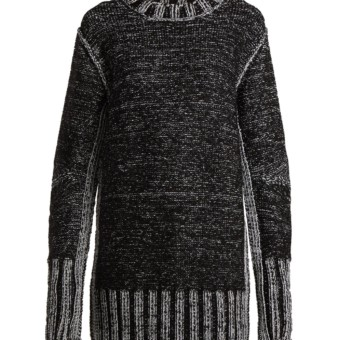 MM6 MAISON MARGIELA Metallic Heavy Knit Sweater Black Dress - We ... d30845d26