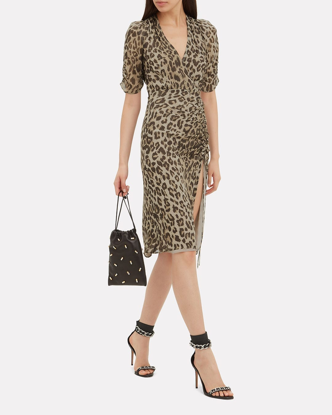 NICHOLAS Leopard Tea Multicolored Dress