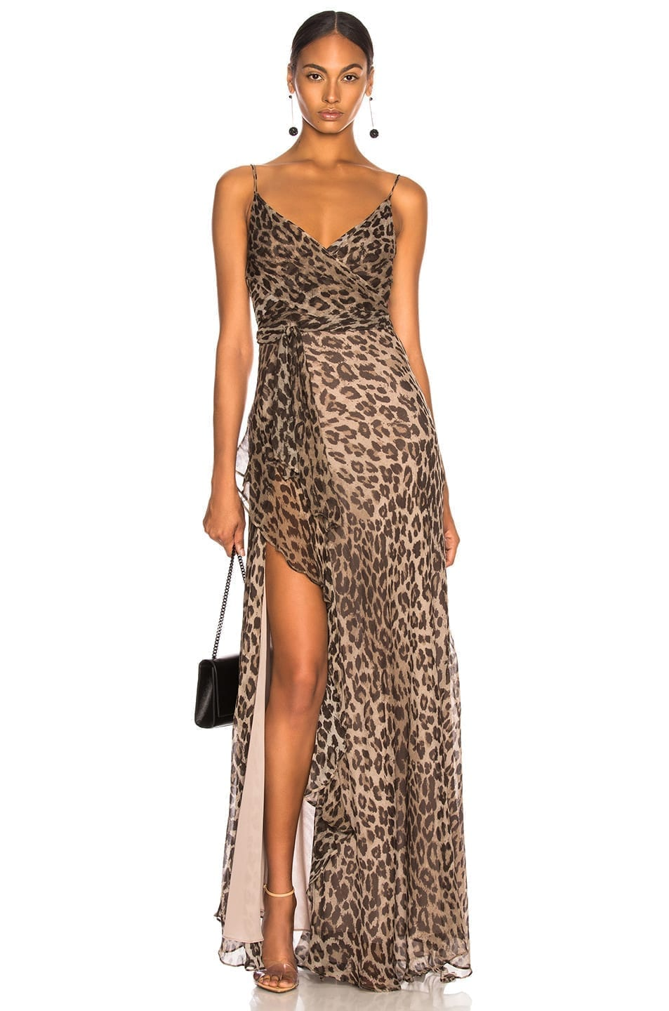 d36b44bde93c NICHOLAS Tie Front Maxi Leopard Printed Dress - We Select Dresses