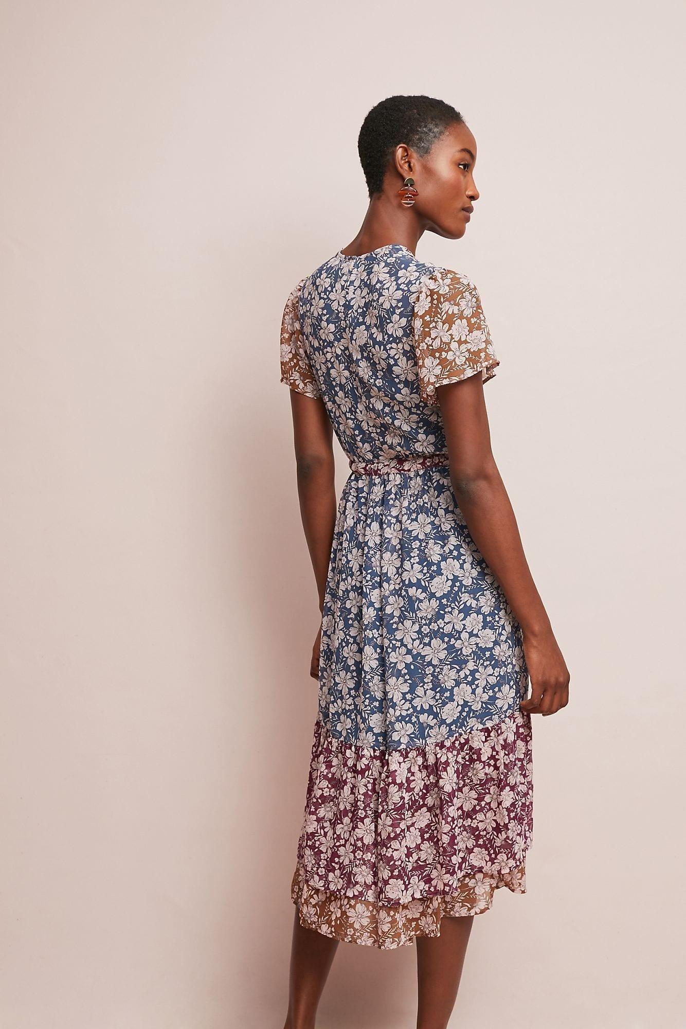 f47093869da8 ONE SEPTEMBER Desert Floral Midi V Necked Purple Dress - We Select ...