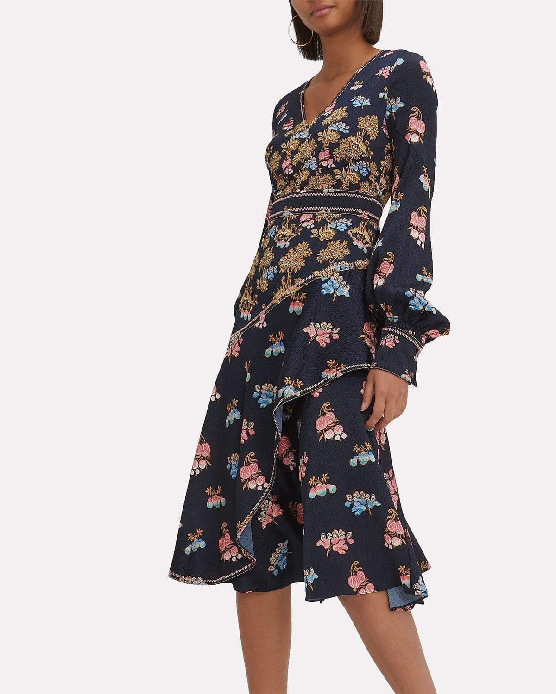 PETER PILOTTO Midi Multi / Floral Printed Dress