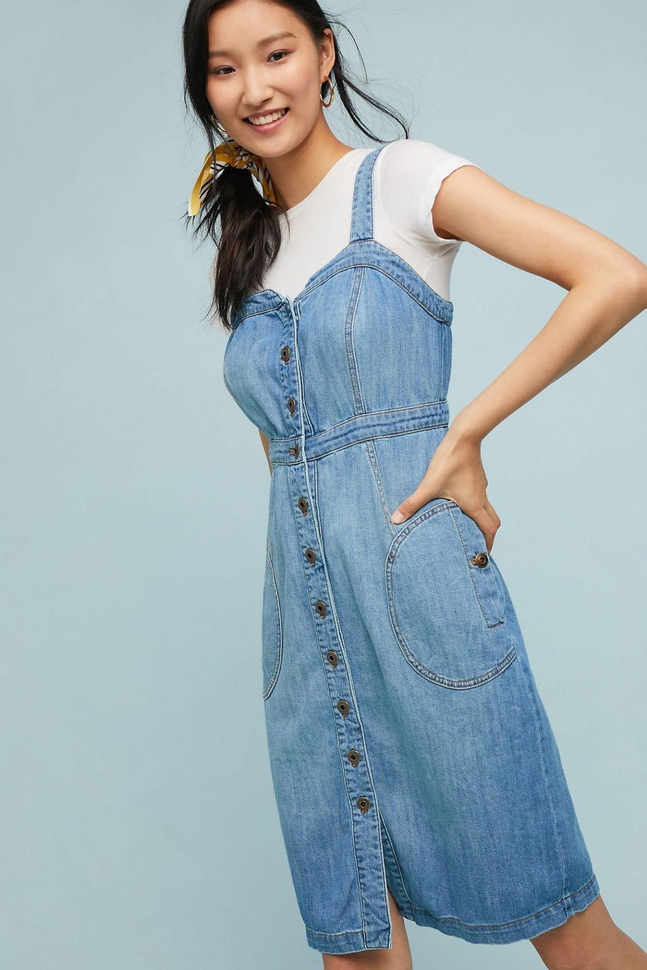 5696890e5ad PILCRO AND THE LETTERPRESS Pilcro Buttondown Denim Dress - We Select ...