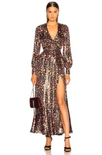 RAQUEL DINIZ Aurora Black / Floral Printed Dress