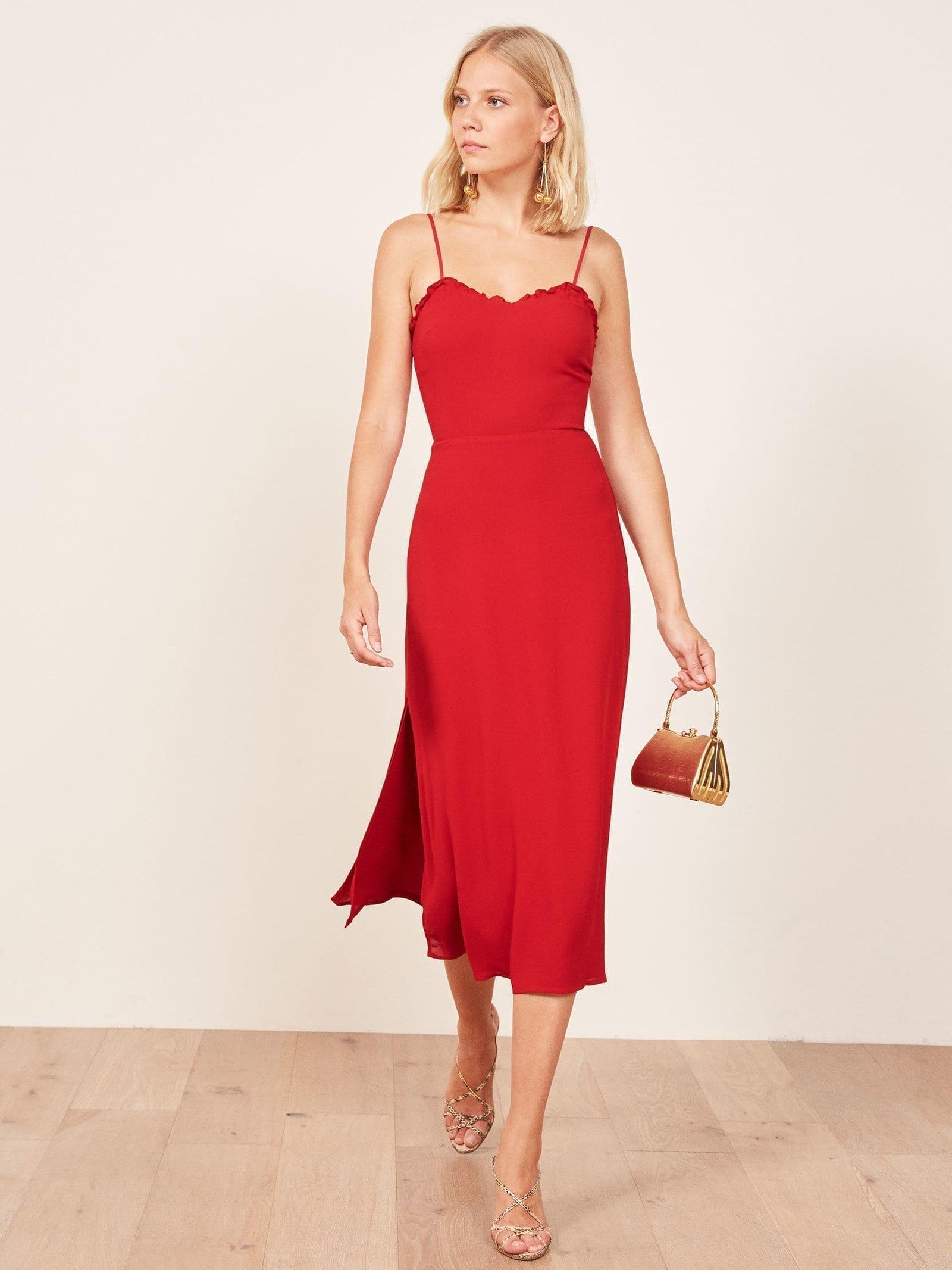 REFORMATION Cassandra Cherry Dress
