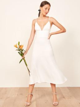 REFORMATION Talita Ivory Dress