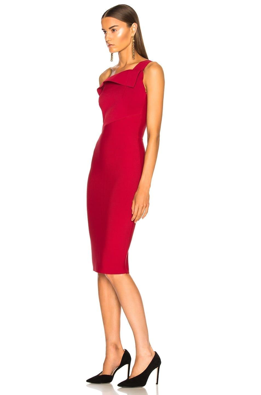 7af11b04f67 ROLAND MOURET Hepburn Knit Persian Red Dress - We Select Dresses