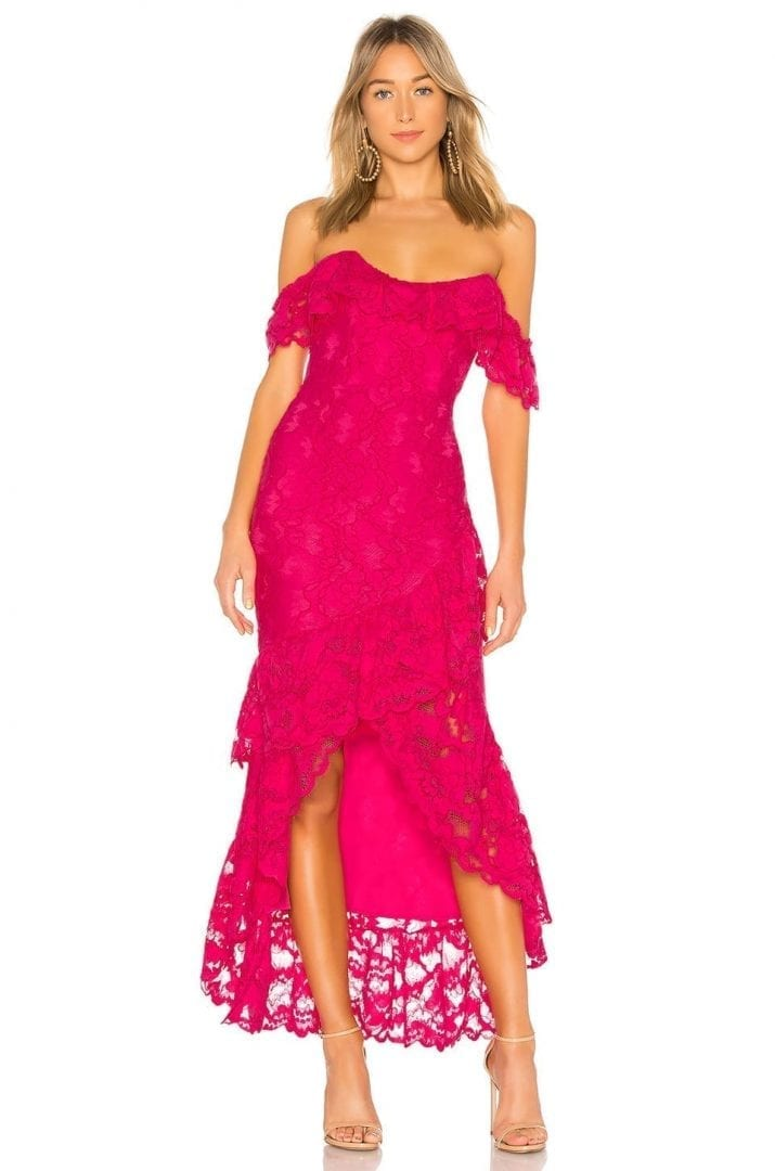 ROSEWATER Lace Gown- Hot Pink Dress - We Select Dresses