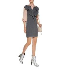 SEE BY CHLOÉ Chambray Frill Mini Black Dress