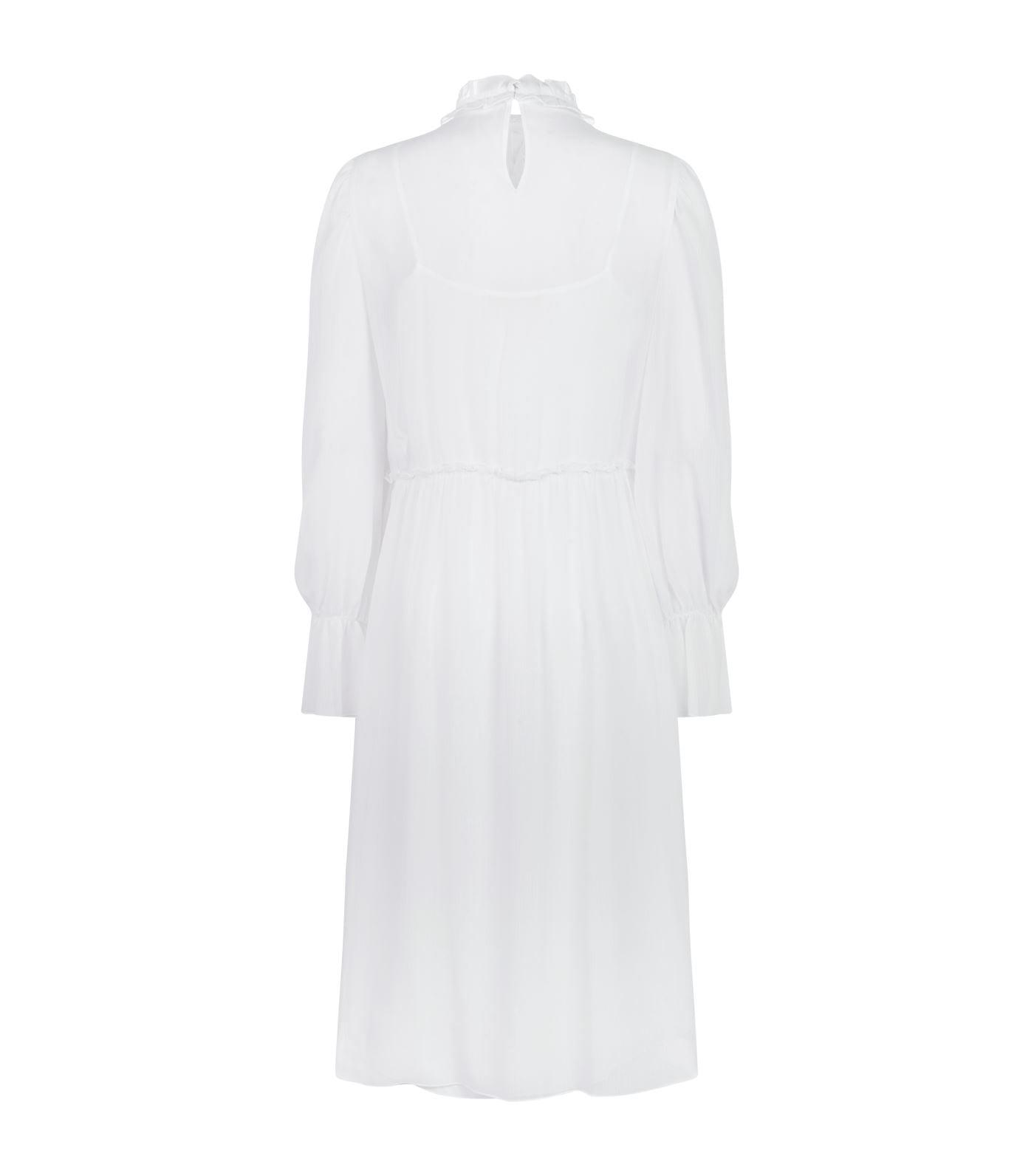 ce5f25b6a3 SEE BY CHLOÉ Embellished Ruffle Midi White Dress - We Select Dresses