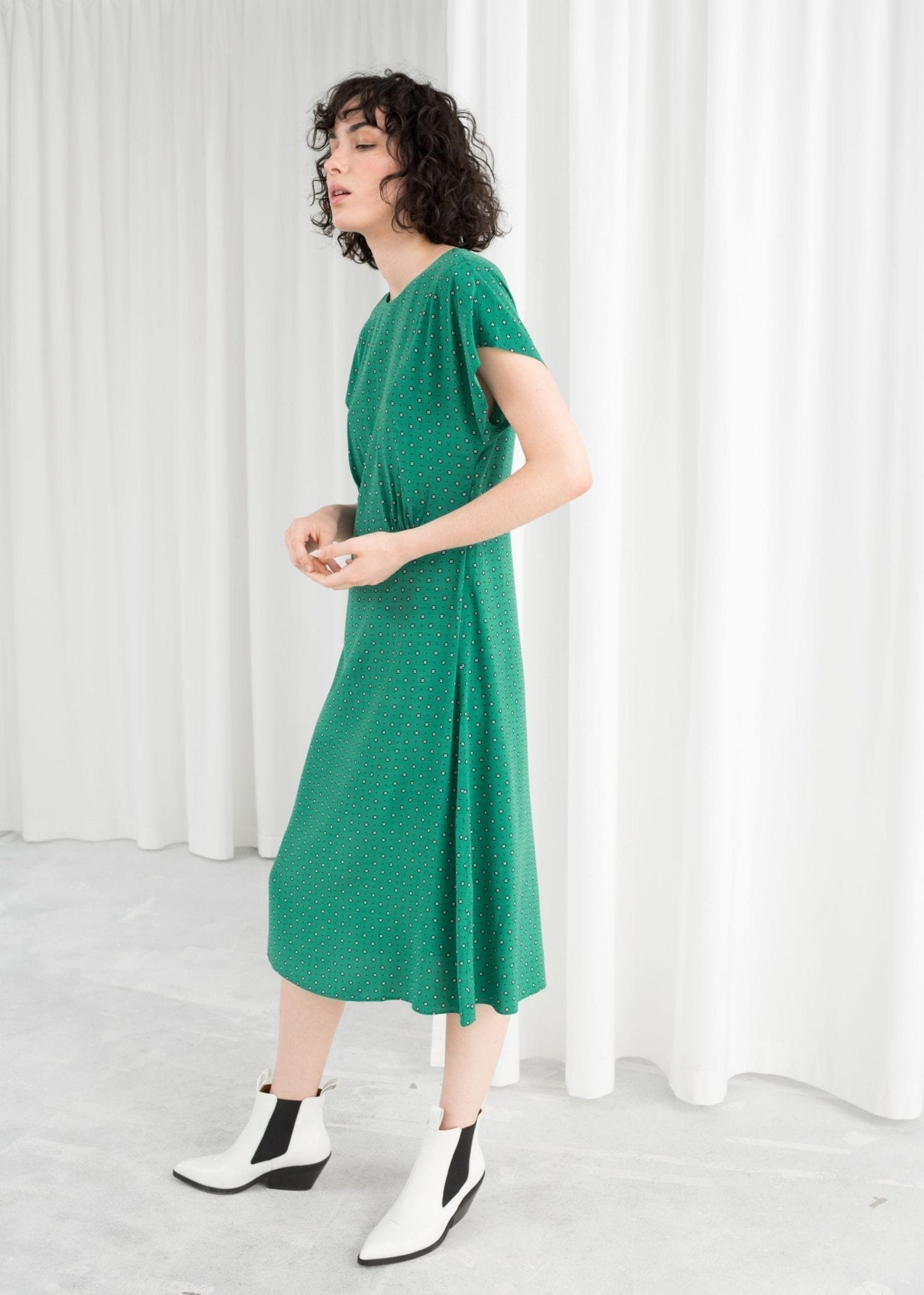b6dab7903b3a   OTHER STORIES Sleeved Green Dress - We Select Dresses
