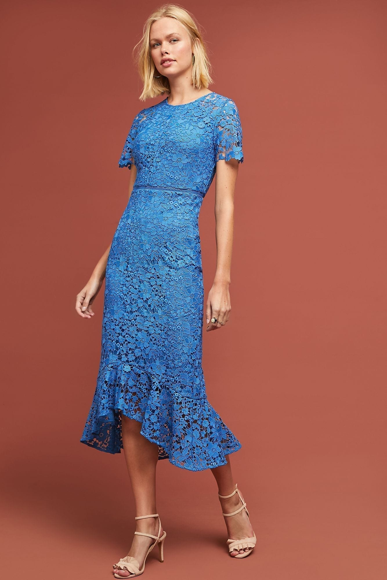 dbfa6a54 SHOSHANNA Shoshanna Celine Lace Blue Dress - We Select Dresses