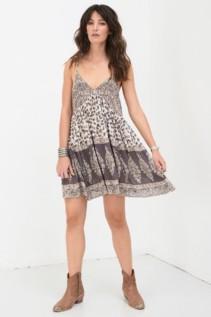 SPELL AND THE GYPSY Delirium Strappy Mini Cream Dress